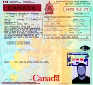 Resident Permit - временное разрешение на работу и проживание в Канаде.