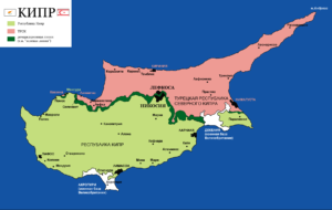 Карта Кипра.
