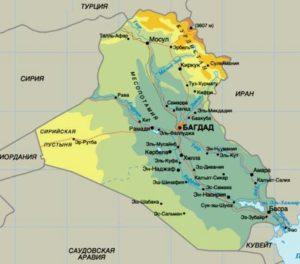 Карта Ирака.