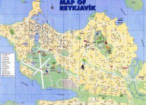 Туристическая карта Рейкьявика (нажмите на картинку чтобы увеличить изображение).