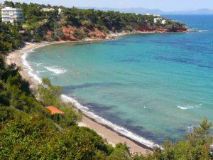 Очень красивые пляжи в Афинах.
