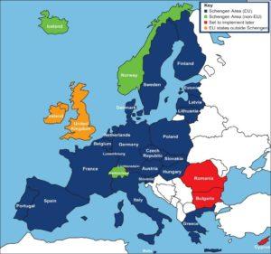 Страны действия шенгенского соглашения