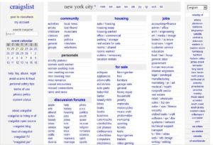 Популярный сайт поиска вакансий https://newyork.craigslist.org/