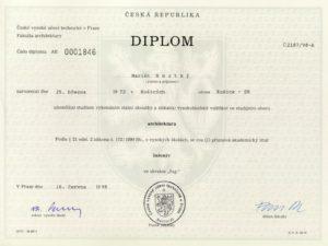 Так выглядит диплом Пражского Технического Университета