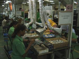 Фабрика по сборке печатных плат в Малайзии