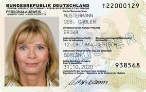 ID карта гражданина Германии. Заменяет паспорт.
