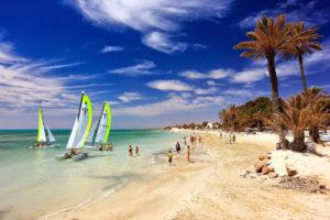 Один из пляжей Туниса