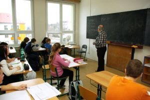 Урок в чешской школе