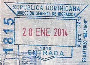 Такой штамп ставят по прилету в доминиканском аэропорту