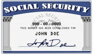 Карточка SSN (номер социального страхования)
