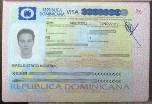 Так выглядит виза в Доминикану. Требуется только для пребывания более 30 дней, а также для нетуристических целей