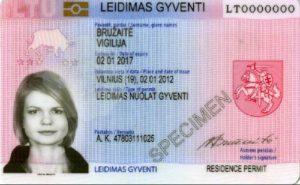 Так выглядит карточка ВНЖ в странах ЕС (в данном случае Литвы)