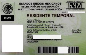 Мексиканская карточка ВНЖ.