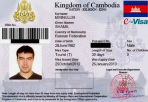 E-visa (онлайн виза).