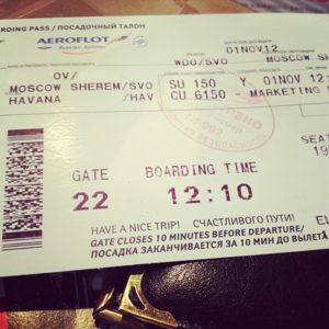 Так выглядит билет на Кубу