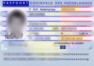 Паспорт гражданина Голландии (образец)