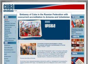 Сайт посольства Кубы в РФ http://www.cubadiplomatica.cu/rusia/EN/Home.aspx