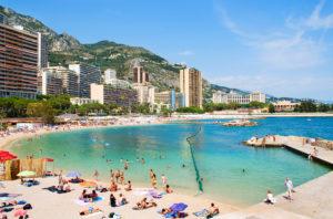 Пляж Монако.