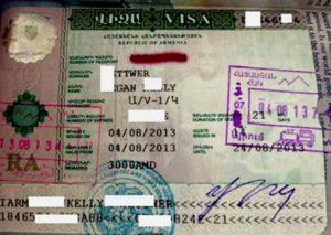 Рабочая виза в Армению.