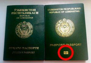 Ламинированная обложка биометрического паспорта.