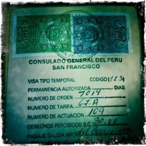 Так выглядит перуанская виза