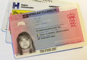 Так выглядит датская карточка ВНЖ