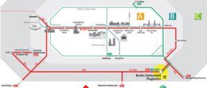 Схема поездов в аэропорт Берлина Шенефельд.
