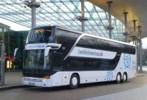 BerlinLinienBus можно поехать в Дрезден, Веймар, Галле, Йену и Эрфурт.