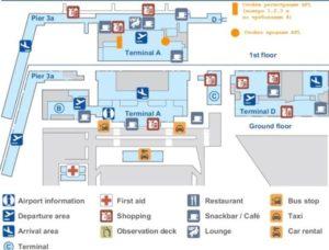 Схема аэропорта Шенефельд в Берлине.