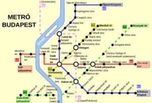 Схема метро Будапешта