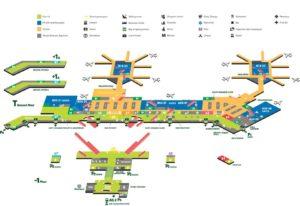 Подробная схема аэропорта Мальпенса.