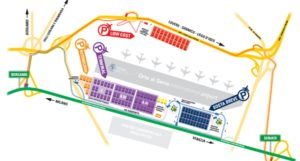 Схема аэропорта Бергамо.