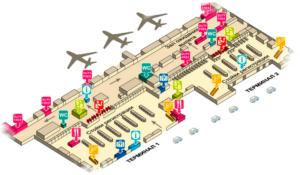 Дон Муанг - схема аэропорта.