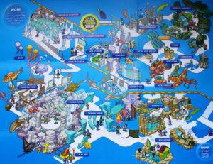 Карта океанариума. Картинку можно увеличить, кликнув по карте мышкой.