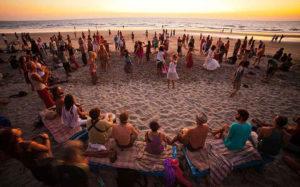 новогодняя пляжная дискотека в Гоа