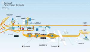 Схема аэропорта Шарль де Голль. Кликните для увеличения.