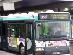 Автобус 350 в Париже - останавливается в аэропорту Шарль де Голль