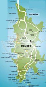 карта Пхукета на русском