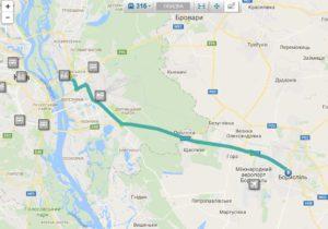 Схема движения маршрутки 316
