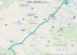 Схема движения маршрутки 368