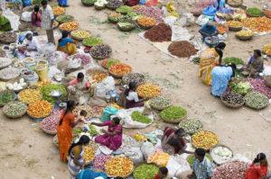 продуктовый рынок в Индии