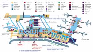 Схема пражского аэропорта имени Вацлава Гавела. Кликните для увеличения.