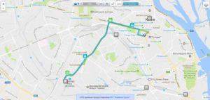 Схема маршрута троллейбуса №9