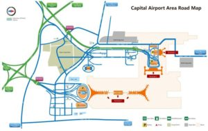 Схема аэропорта Пекина.