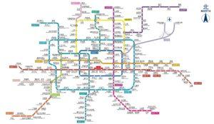 Схема метро в Пекине.
