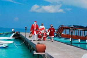 Дед Мороз на Мальдивах.