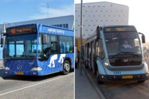 Автобусы 400 и 401 возле аэропорта Эйндховен.