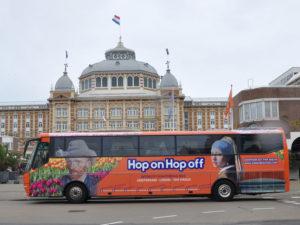 Автобус из Амстердама в Лейден и Гаагу.
