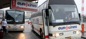 Брюссель-Париж на автобусе Eurolines.