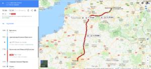 Брюссель-Париж общественным транспортом